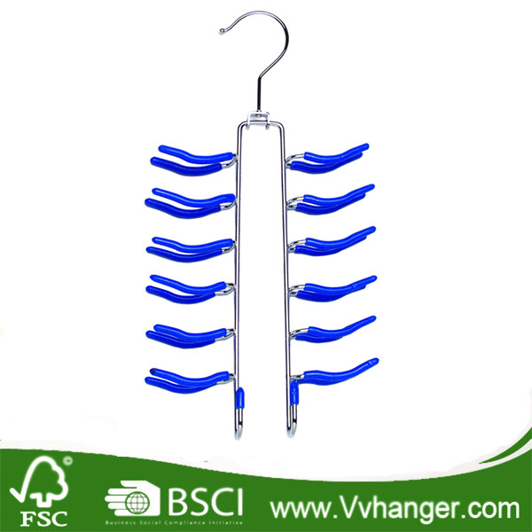 Chrome Hook Wire Metal PVC Coated Hanger For Wholesale