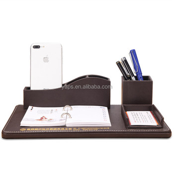 Multifunction Office Desk Organizer Have Pen Holder Business Name