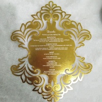 Dramatically Decorative Luxury Gold Custom Laser Cut Wedding Menu Cards