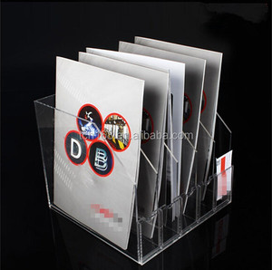 clear acrylic desktop accordion file holder/clear acrylic a4 paper display holder