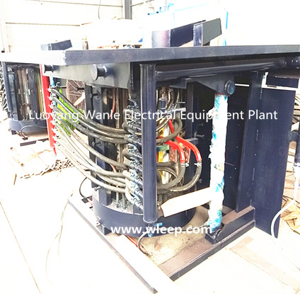 1T Steel Shell IF Induction Copper Melting Furnace