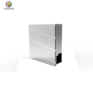Modern Rust Proof Powder Coated Stainless Steel Vertical Lockable Mailbox, Stainless Steel and Silver