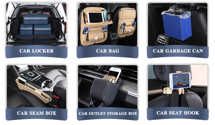 High Quality Supply Amazon PU Leather Car Starage for All Car Trunk Suitcase/Storage Box/Organizers