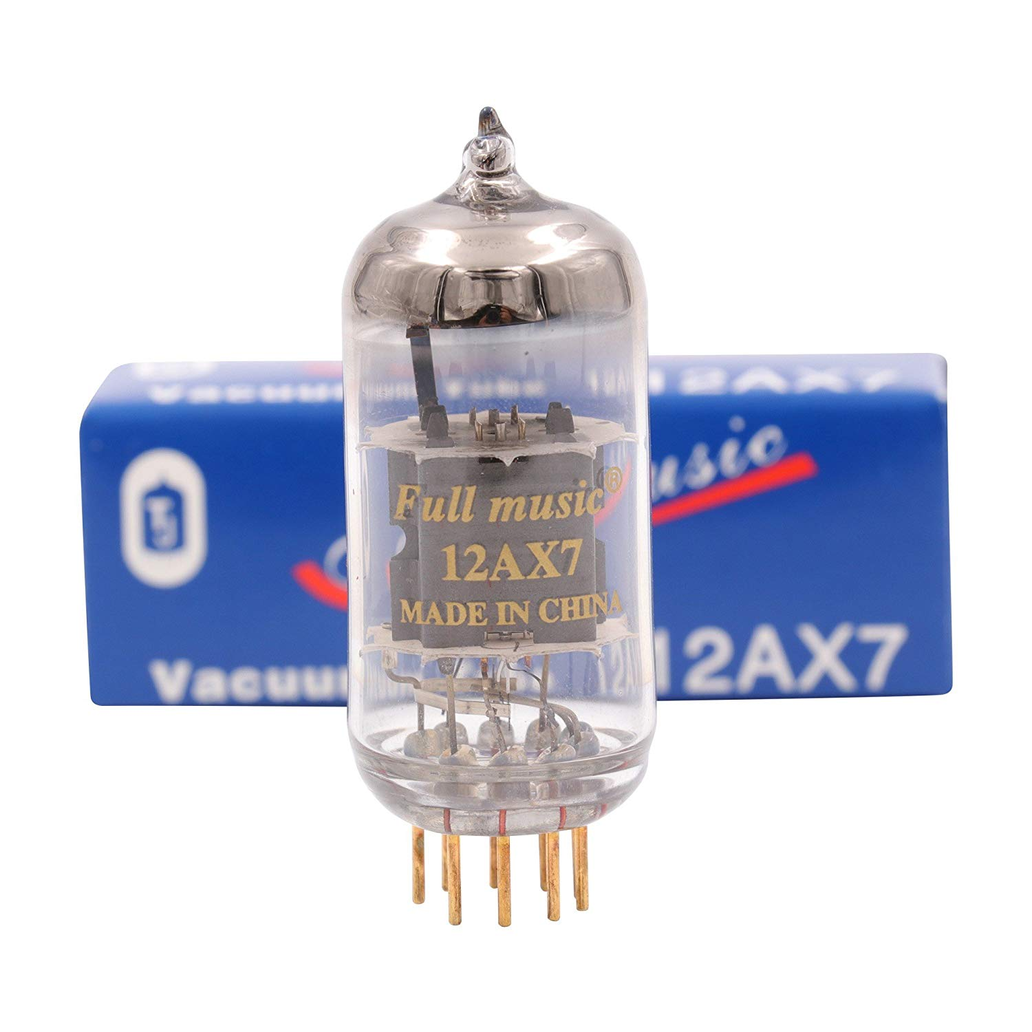TJ Fullmusic 12AX7 Vacuum Tube ECC83 Electron Tube For Vintage Hifi Audio Tube AMP Microphone Factory matched pair