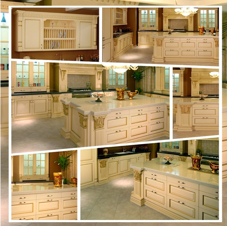 American standard readymade ash solid wood kitchen