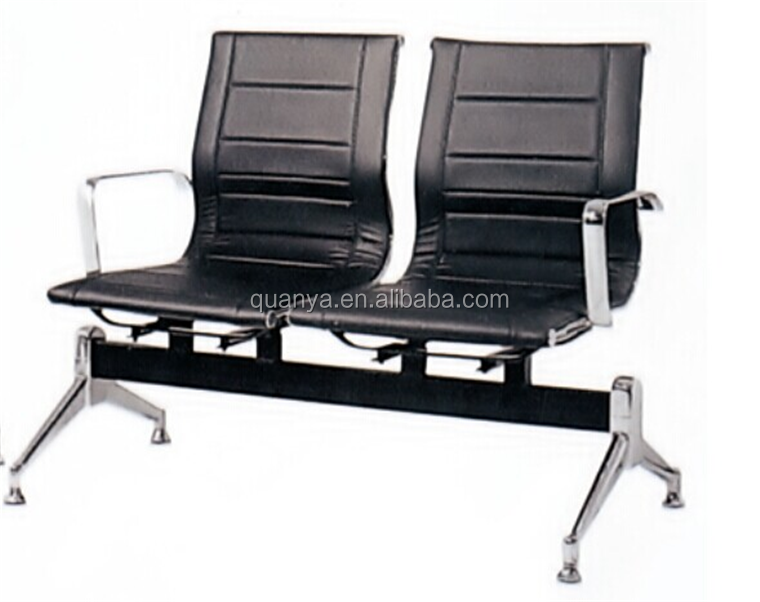 Quanya office waiting room chair hospital waiting bench PU padded waiting area bench for aiport
