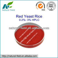 Natural Made Red Yeast Rice Extract Powder 0.2%- 3.0% HPLC