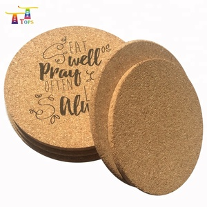 wholesale printed logo square cork coaster