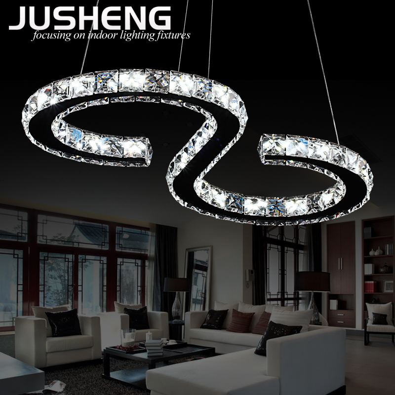 Modern High Quality K9 Crystal Chandelier Lighting S Or 8 Shape Led Pendant Light Fixture