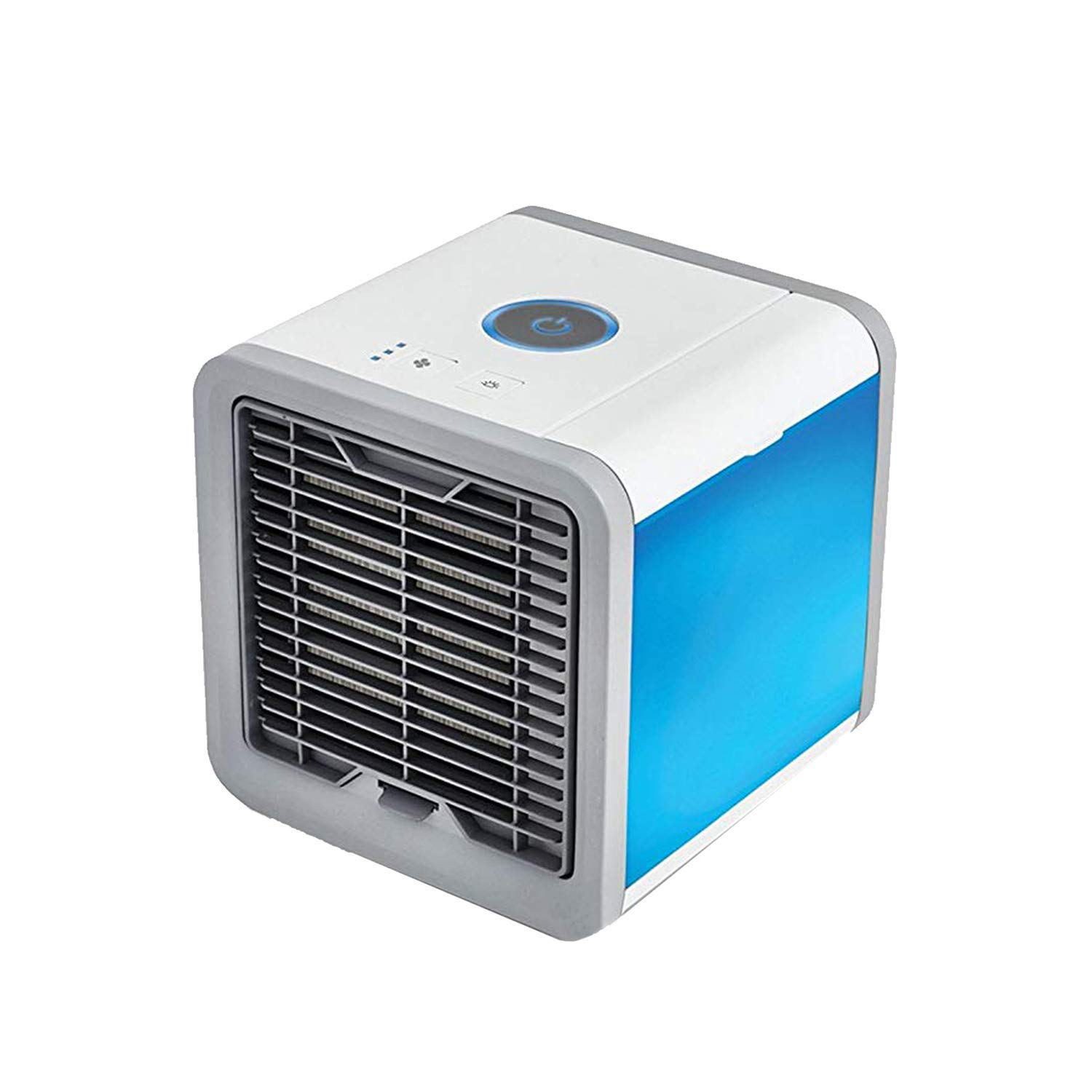 Portable Air Conditioner Mini Fan- Personal Mini Air Conditioner, USB Portable Personal Space Air Cooler Humidifier Purifier with 7 Colors LED 3 Fan Speeds, Cooling Fan for Office Home Outdoor
