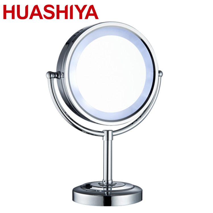 Led Lighted Travel Makeup Mirror Desktop shaving mirror makeup mirror