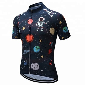 Customized short sleeve pro team breathable children cycling jersey