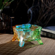 Full Blessing: Crystal Glass Liuli Craft Incense Burner Censer