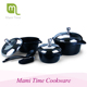 Metal fiber burner eco-friendly pyrex glass aluminum die cast cookware