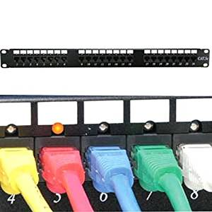 SF Cable, 48 Port CAT6 110 Patch Panel Rackmount w/LED Indicator