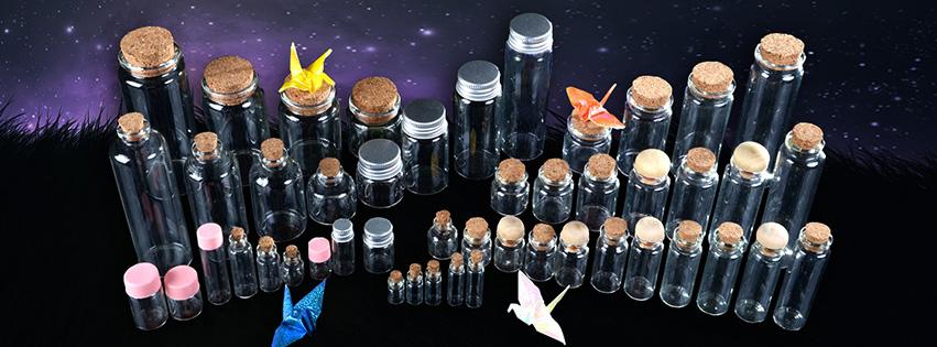 2ml 4ml 6ml Mini Klarglas Flasche Mit Kunststoff Schraube Abdeckung Dekorative Drift Flaschen Große Inventar und frei von Fracht