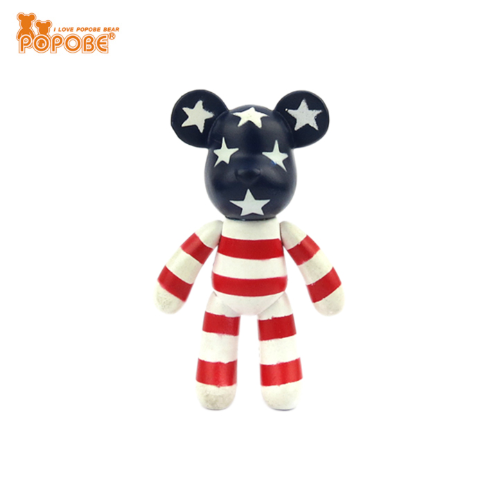 Wholesale Popobe Bear Plastic Animal Toy Cute Small Bear Toy For Golf