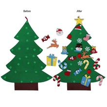 Christmas Gifts 2018 DIY Felt Christmas Tree Set Child Gifts With 26 PCS Detachable Ornaments