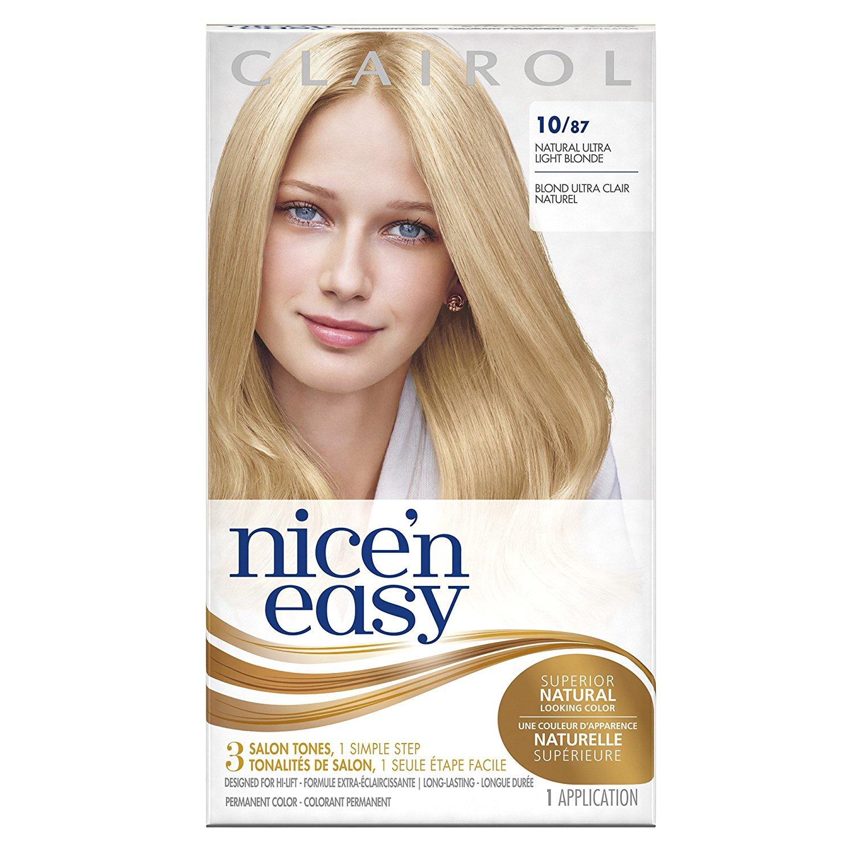Buy Clairol Nice N Easy 1087 Natural Ultra Light Blonde Permanent