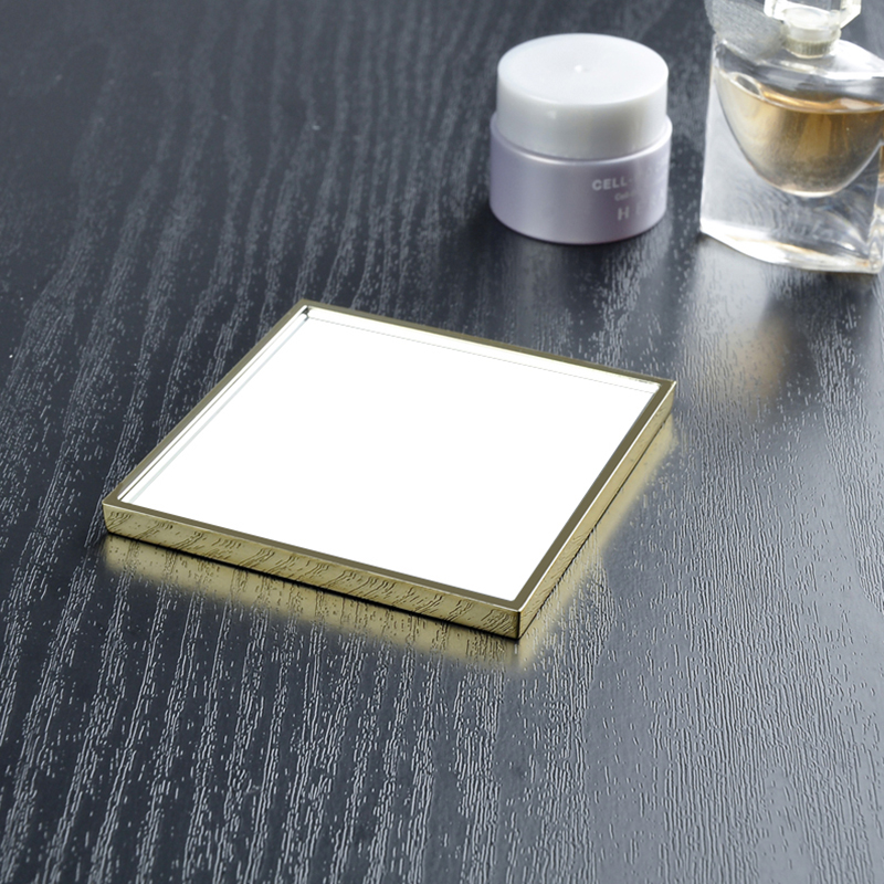 Metal Travel Mirror\/compact Makeup Wholesale Pocket Mirror