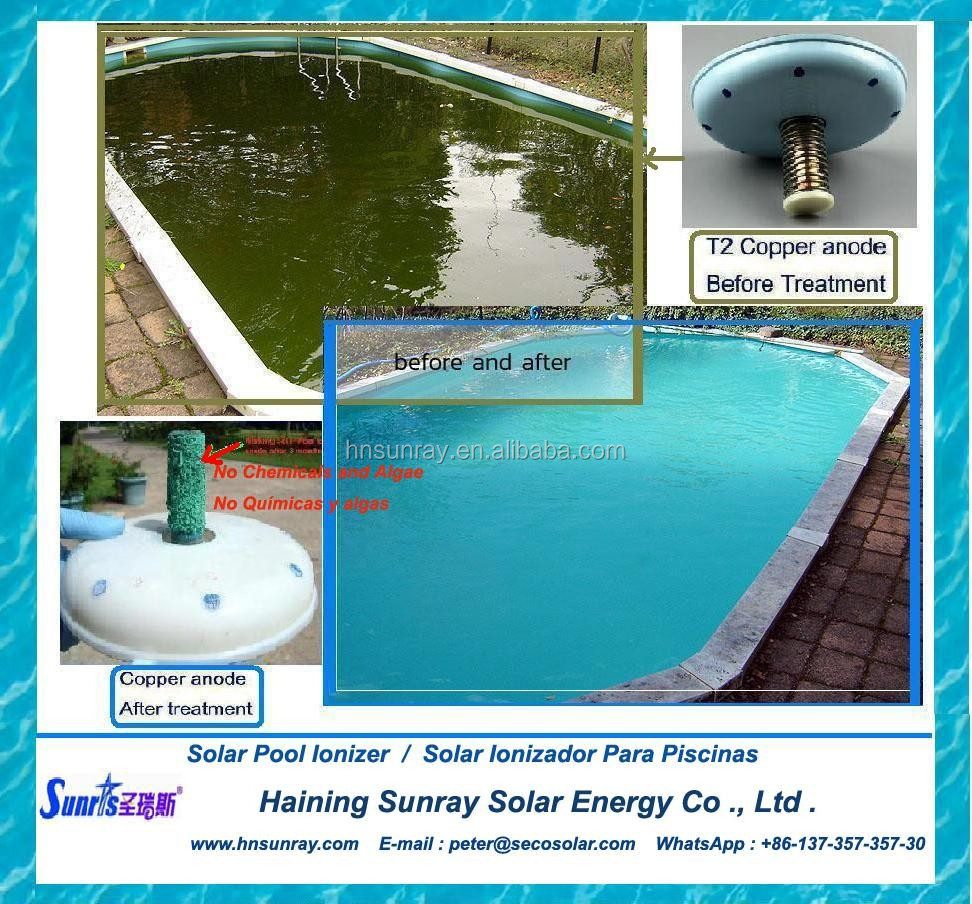 Solar Powered Water Ionizer For Swimming Pool Salt Chlorine Free Buy Pool Water Ionizer