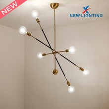 New Arrival Linear Design Gold Chandeliers And Modern Pendant Light for Interior Decoration