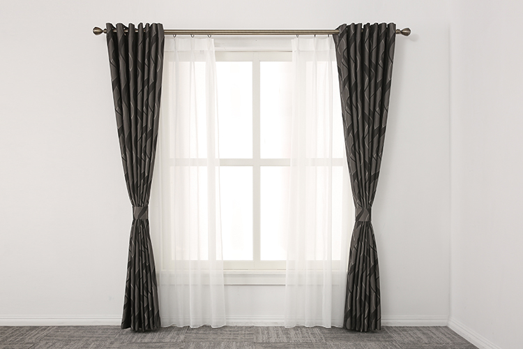 Satisfactory quality dark grey  hotel office curtain luxury curtains drapes and blinds