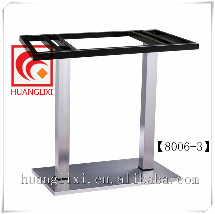 Composite Base Brushed Stainless Steel Table Leg Stainless Steel Chassis  Restaurant Table Frame Coffee Room Leisure