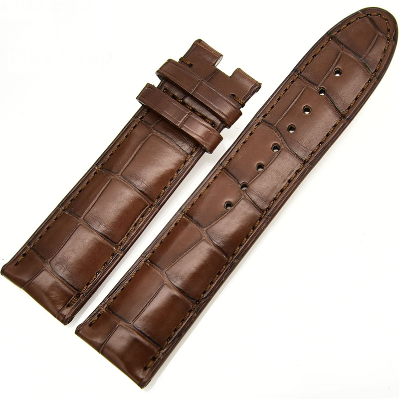 Best real crocodile skin leather wristband bracelet for montblanc replacement watch strap bands no buckle men & women watchband