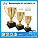 Factory price sports souvenirs custom design crystal Metal Trophy and medal