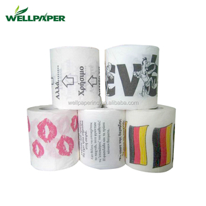 custom printed lovely toilet tissue paper roll