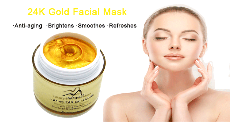 En gros Coréen En Cristal De Collagène 24 K Or Pur Masque Facial