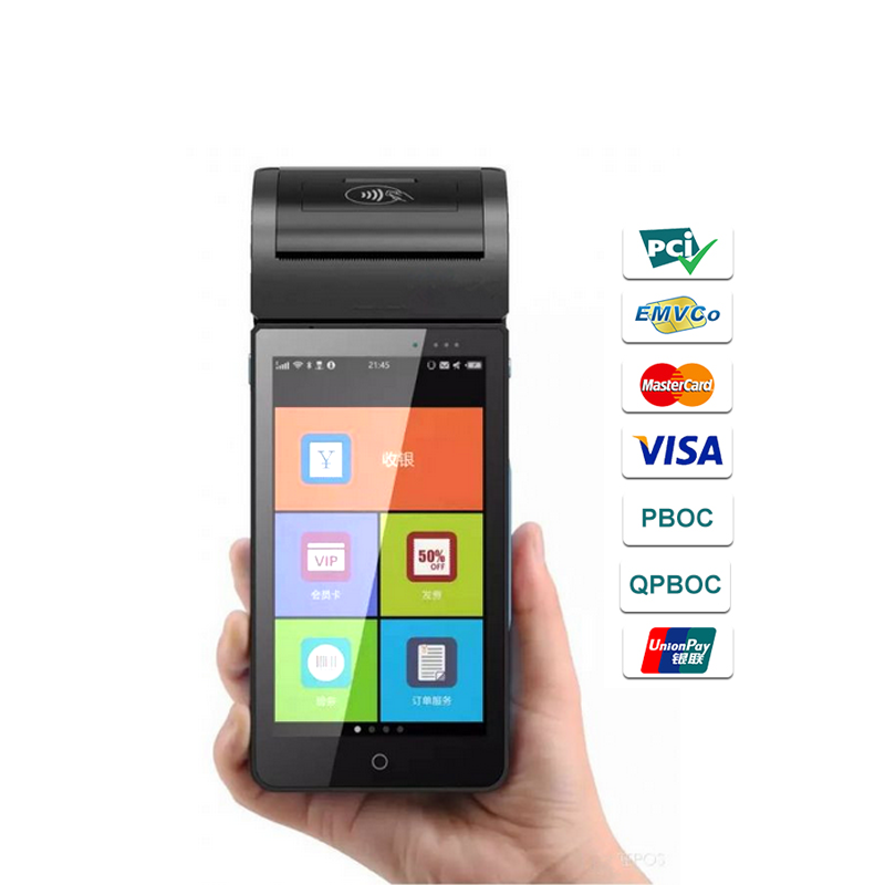 5.5 inch EMV PCI 4G handheld android eft smart pos terminal