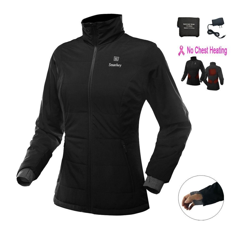 bca2c85e46545 Get Quotations · Smarkey Women's Slim fit design Heated Jacket With 1pcs  4400mAh Battery And Charger For Winter Outdoor