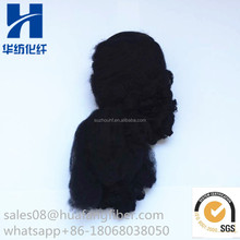 SGS Certificate Recycled Black Polyester Staple Fiber