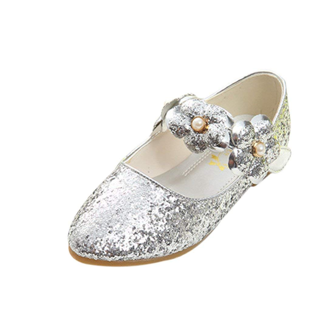 JTENGYAO Baby Flower Girls Queen Dress Up Princess Shoes Glitter Dance Shoes Party Shoes Sandals