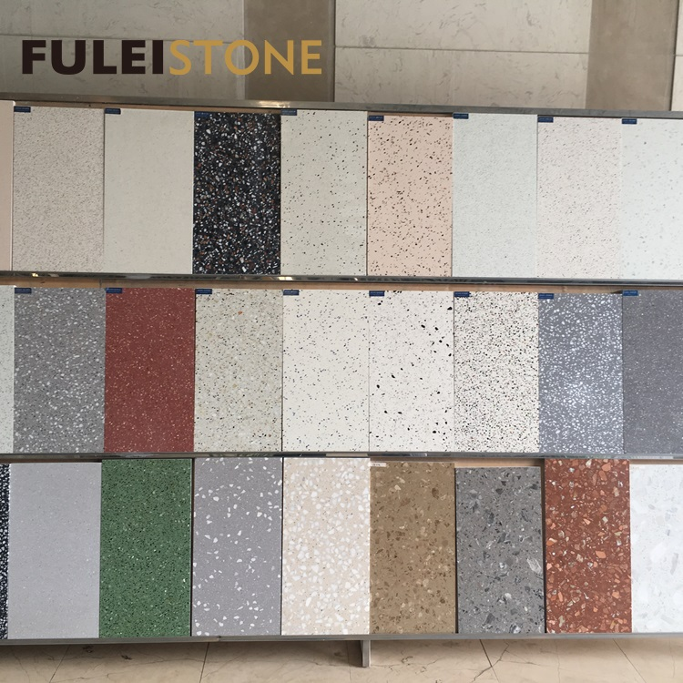 Light Pink Terrazzo Stone Floor Tiles View Pink Terrazzo Fulei Stone Product Details From Xiamen D E Stone Co Ltd On Alibaba Com