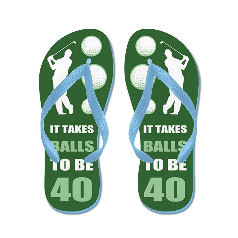 a9fc381c0 Get Quotations · CafePress Funny Golf 40Th Birthday - Flip Flops