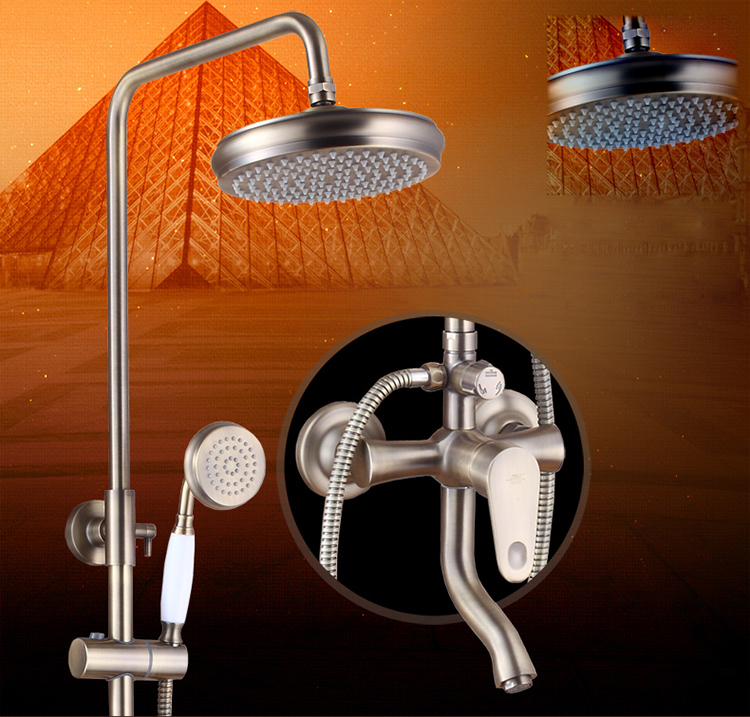 Antique Bronze Newly Bath Shower Set Faucet Single Handle In Wall ...