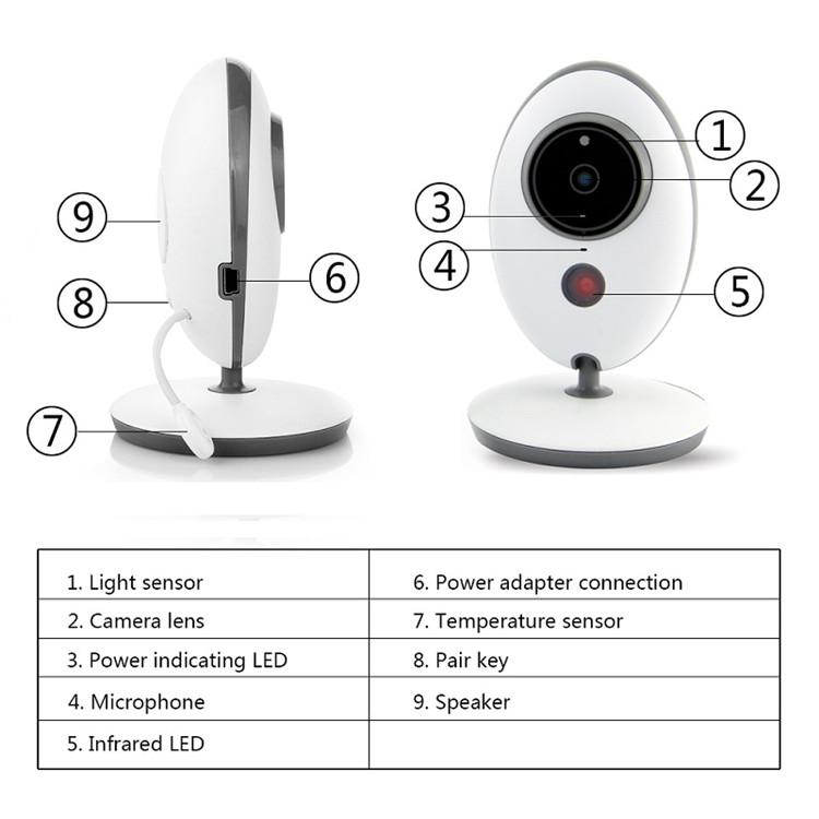 Small VB605 Radio Wireless LCD Audio Video Baby Monitor