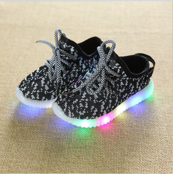 Sports Kids Casual Sneakers Shoes Kids LED Shoes Factory Price