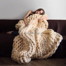 Wholesale Handmade Mermaid Blanket Merino Chunky Knit Wool Blankets