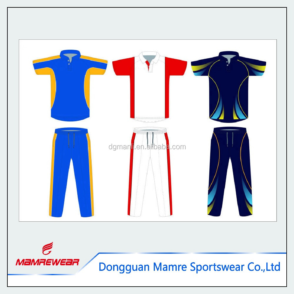 Hot sportswear custom design T-shirt/Polo Shirt , sublimation printing shirts and new design cricket jerseys for your team