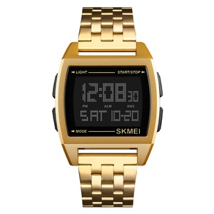 Oem Luxury Watch Automatic Gold Plated Digital Watch Mens Business Watch Skmei 1368