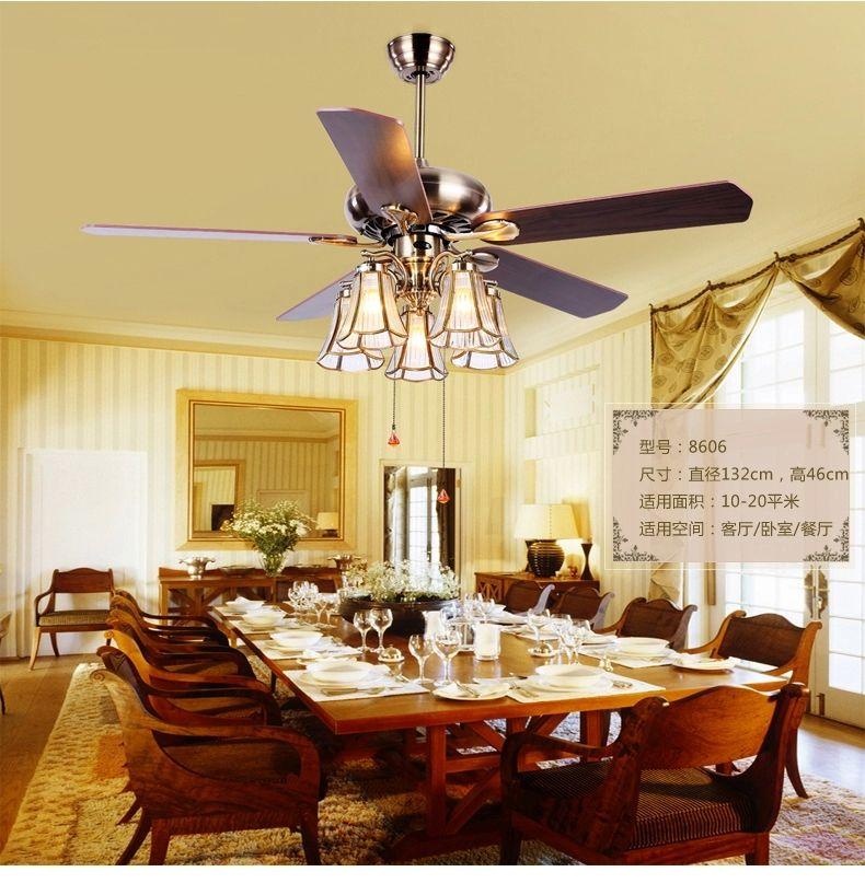 American Art Copper Shade 52inch Ceiling Fan LightsTiffany