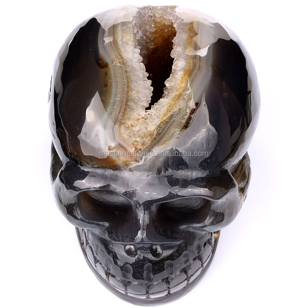 Natural Life Size Human Skull Carved Stone Skull Gifts