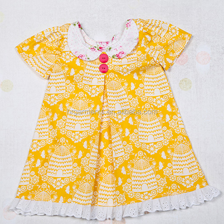 Girls boutique clothing spring summer 2017 easter dress persnickety toddler girls yellow dress