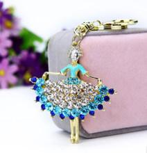 Брелок с изображением ангела из страз, Новая Металлическая брелок для ключей, подвески в виде цветов, брелок для ключей, модный подарок, сумк...(Китай)