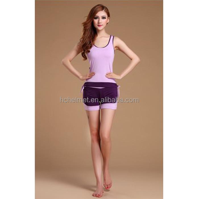 0a3268915a2f2 Mujeres de conjuntos de Yoga de ropa deportiva mujer trajes deportes  funcionamiento ejercicio niñas ropa de