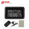 New Arrival LED Car HUD Head Up Display With OBD2 Interface Plug & Play Speeding Warn System W01